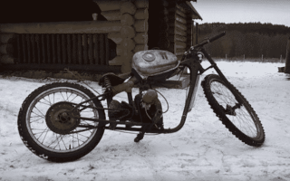 Самокат с мотором от бензопилы