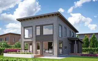 Маленькие домики с односкатной крышей