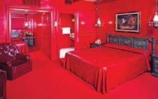 Черно бело красная спальня