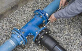 Схема водопровода в городе