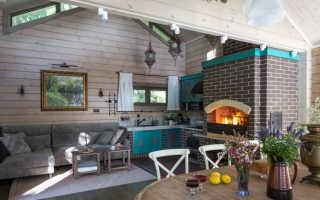 Кухня гостиная частного дома