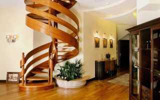 Как сделать винтовую лестницу из дерева