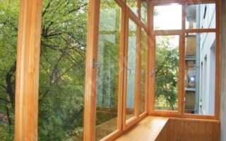 Обшить балкон деревом