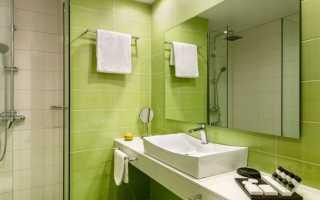 Ванная комната оливкового цвета