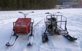 Самодельный снегоход для глубокого рыхлого снега