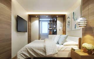 Дизайн спальни объединенной с балконом