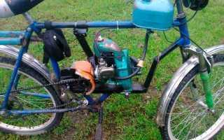 Велосипед с мотором бензопилы