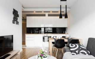 Кухня гостиная современный стиль