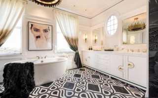 Ванная комната крашенные стены