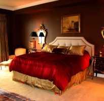 Дизайн спальни в красных тонах