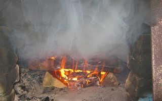 Печка дымит в дом причина