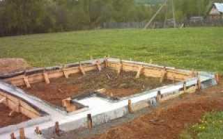 Фундамент для печки в бане
