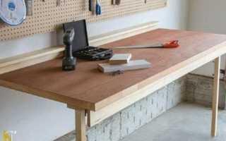 Сделать откидной столик от стены