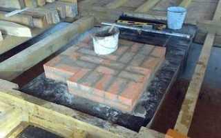 Фундамент для печи в бане