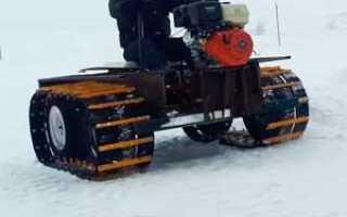 Самодельные мини снегоходы своими руками на гусеницах