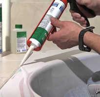 Как правильно нанести герметик в ванной видео
