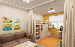 Гостиная и детская в одной комнате 18