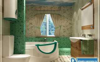Ванная комната неправильной формы