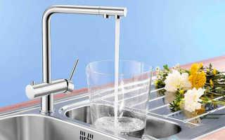 Совмещенный смеситель водопроводной и питьевой воды