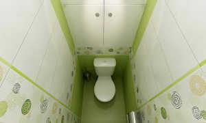 Ремонт в маленьком туалете панелями фото