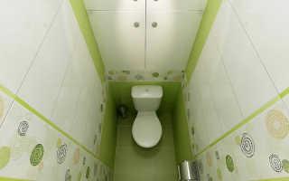 Стены туалета из пластиковых панелей фото