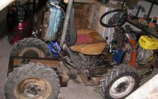 Как сделать самодельный трактор из мотоблока