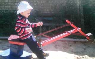 Детский экскаватор своими руками чертежи