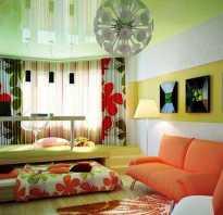 Дизайн комнаты зал и детская