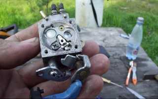 Настройка карбюратора бензопилы партнер 350 своими руками