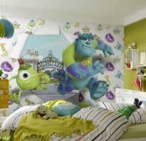 Варианты поклейки детской комнаты