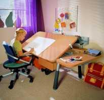 Высота стола в детской