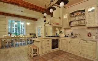 Кухня для дома из бруса