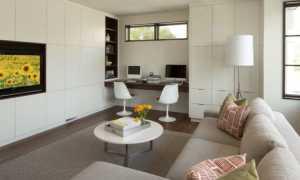 Кухня гостиная с рабочим местом