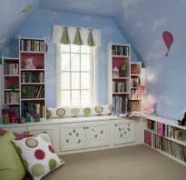 Детская комната мансарда для девочки
