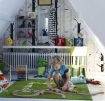 Детская на чердаке дизайн