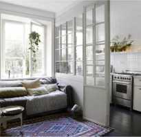 Кухня гостиная с перегородкой фото