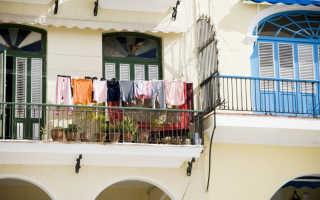 Веревки для сушки белья на балконе фото