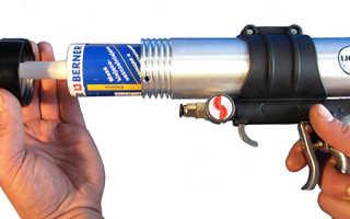 Как использовать герметик с пистолетом