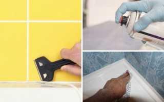 Как очистить силиконовый герметик от плитки
