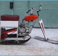 Снегоход на колесах из бензопилы