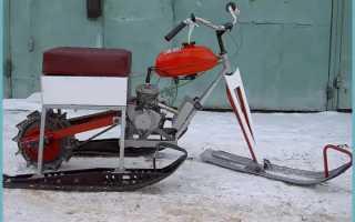 Мини снегоход из бензопилы