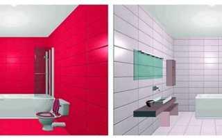 Ванная комната из разной плитки