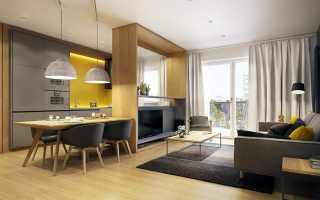 Дизайн зал кухня 30 кв м