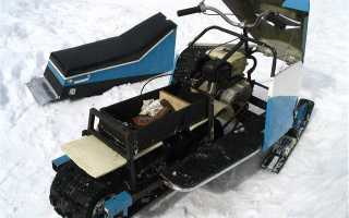 Самодельный снегоход из бензопилы урал