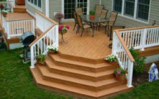 Как сделать деревянную лестницу на крыльцо