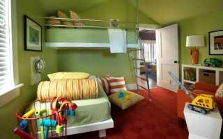 Дизайн детской комнаты для мальчика на мансарде