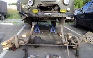 Замена подшипника хвостовика переднего моста уаз 3303н