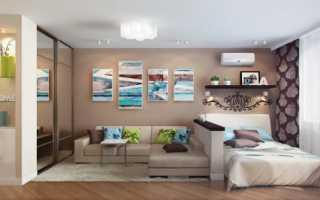 Дизайн интерьера зал спальня