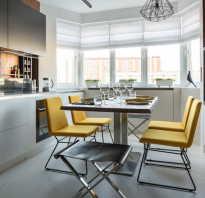 Кухня гостиная с эркером дизайн фото