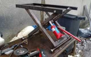 Подъемник для авто в гараж своими руками